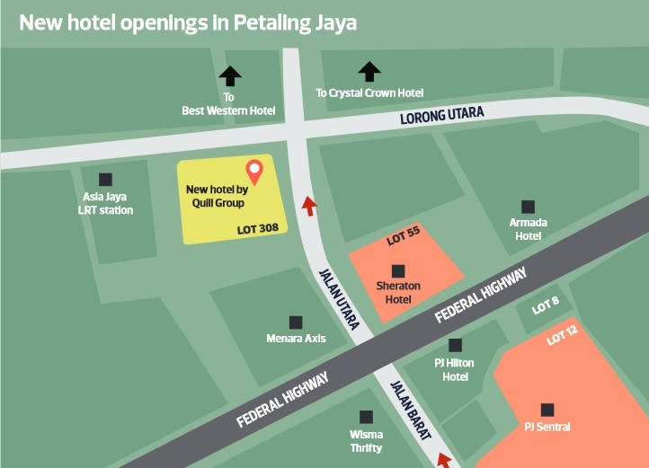 Map Of Asia Jaya Lrt Station.Three New Hotels To Open In Pj Near Federal Highway Edgeprop My
