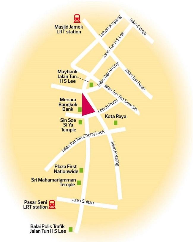 Jalan Tun H S Lee