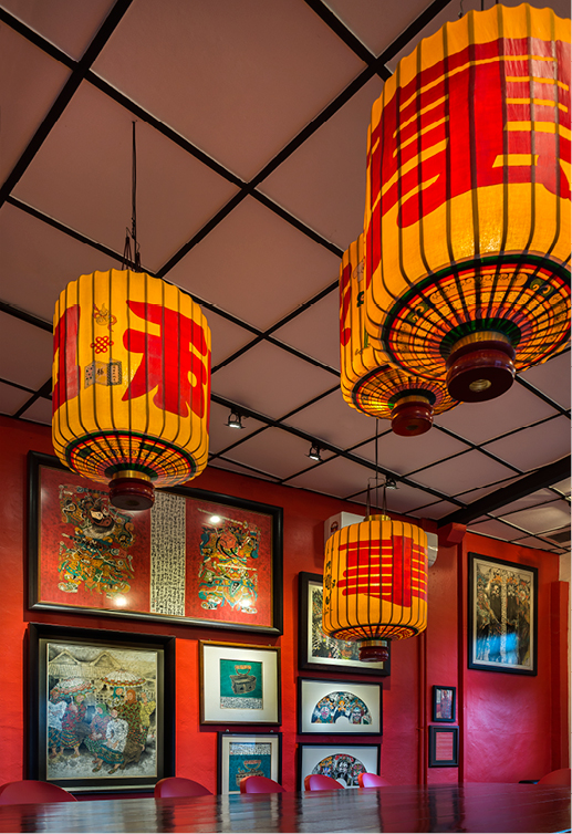 The China room commemorates the days when the space was once an opium joint.