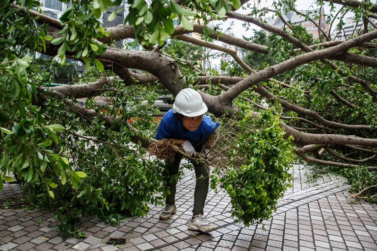 Hong Kong, southern China mop up after super typhoon Mangkhut