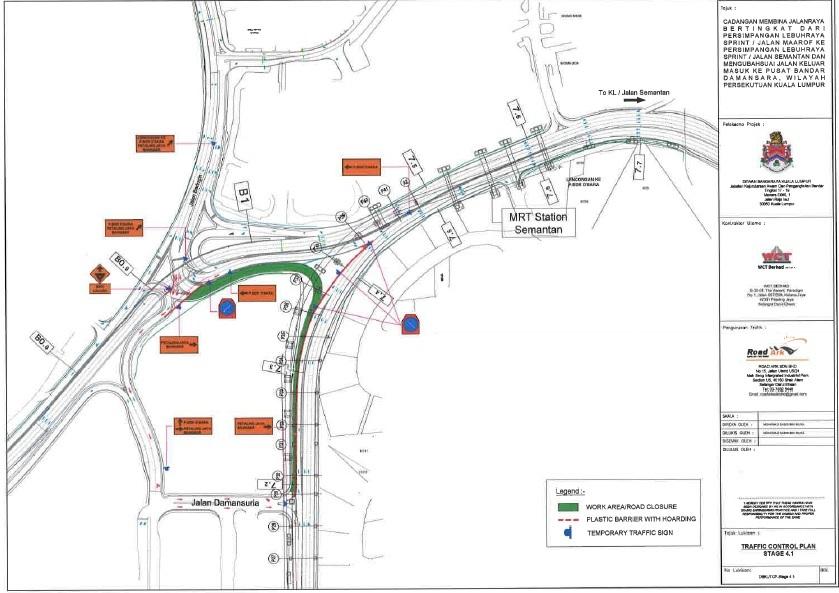 Road Closure And Traffic Detour At Damansara Link Kl Edgeprop My
