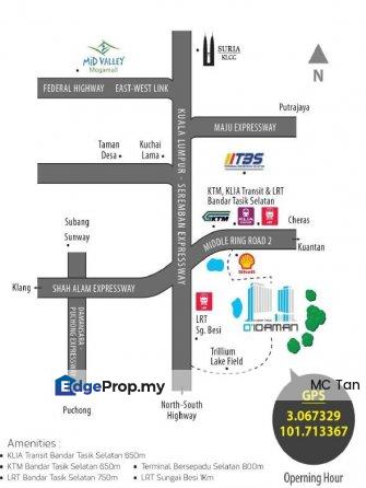 Opposite TBS D'Idaman NEW Condo, Kuala Lumpur, Bandar Tasik Selatan