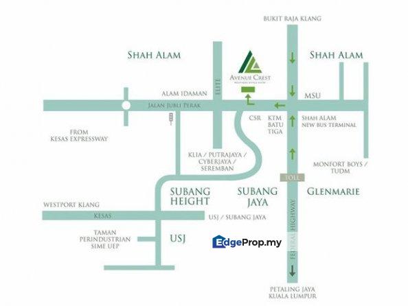 Avenue Crest SOFO for sale, Selangor, Shah Alam