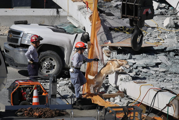 Death toll rises to 6 after collapse of Miami footbridge